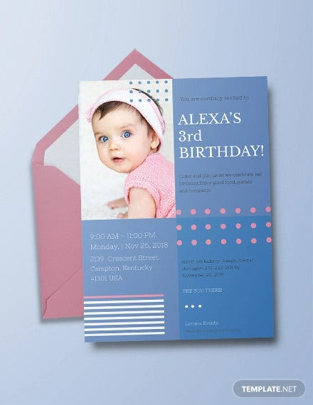 kids birthday invitation
