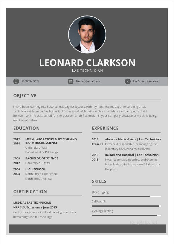 lab technician resume template to edit1