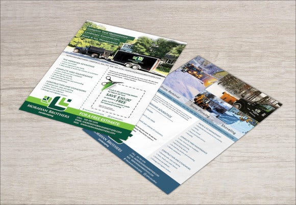 lawn care and snow removal flyer