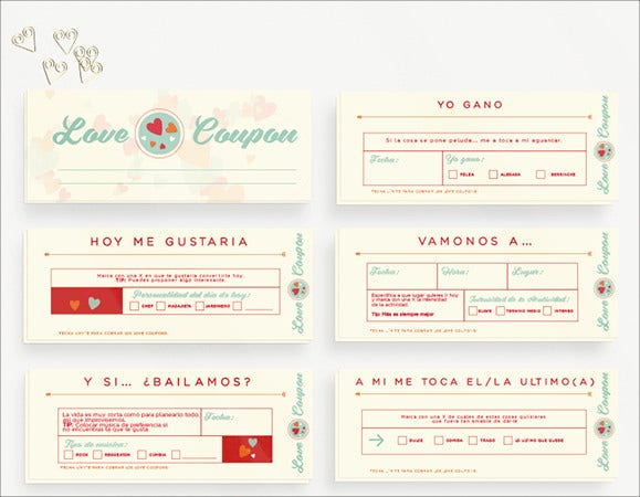 love coupon template download