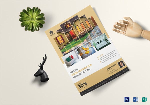 luxury real estate flyer template in word