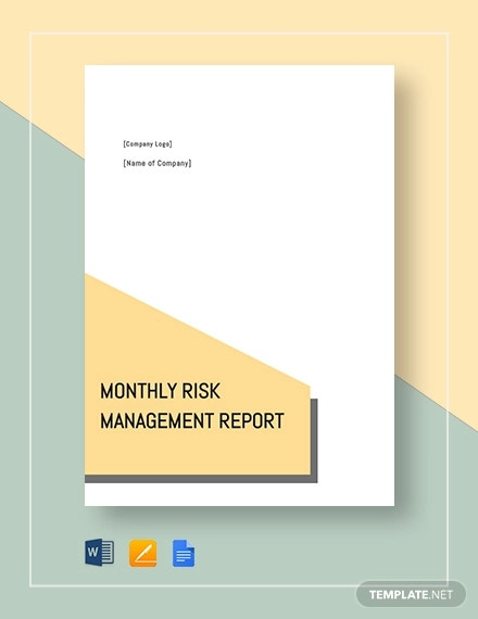 montly risk management report