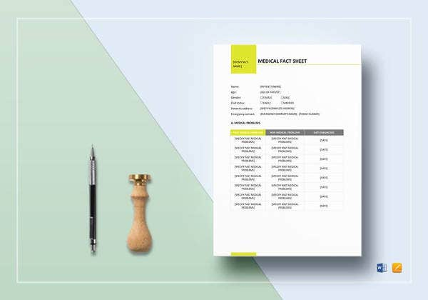 medical-fact-sheet-template-to-print
