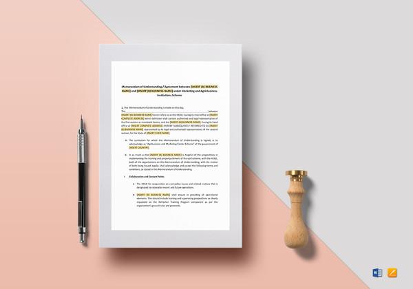 memorandum-of-understanding-for-business-agreement-template