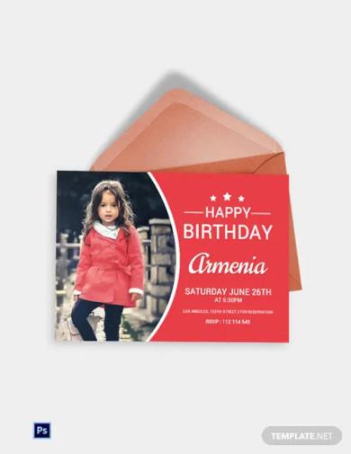modern birthday invitation card