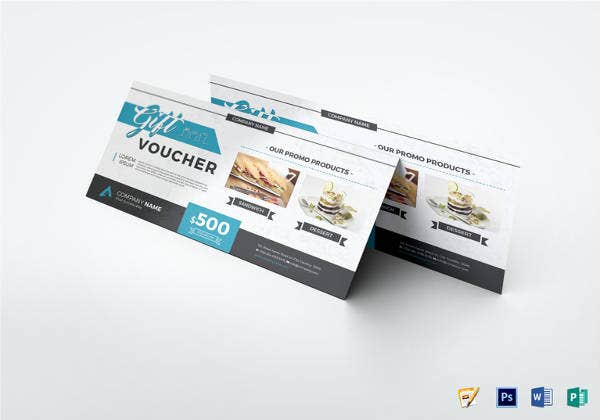 modern gift voucher design in psd