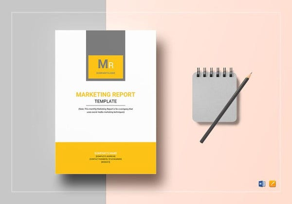 monthly marketing report template in word