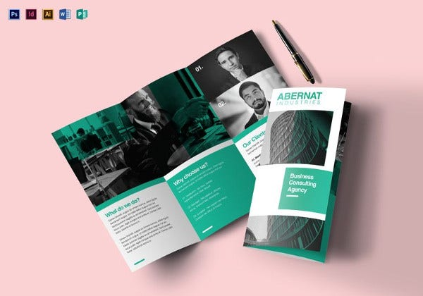multipurpose tri fold brochure indesign template