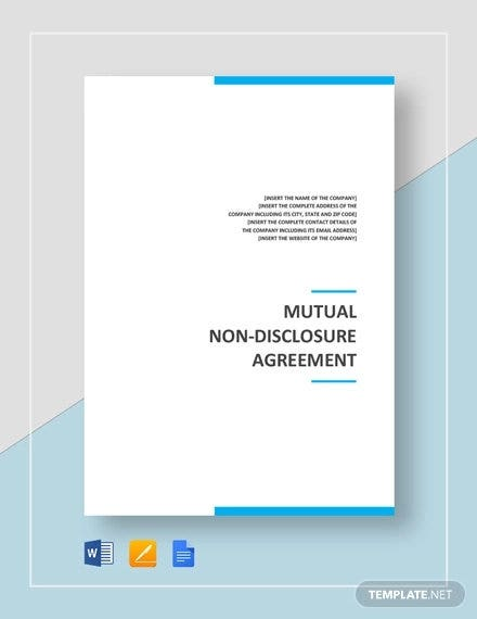 mutual non disclosure agreement template