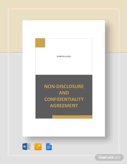 non disclosure and confidentiality agreement sample
