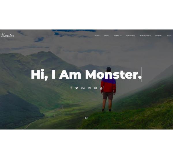 onepage personal joomla template