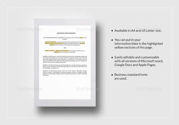 outsourcing services agreement template2