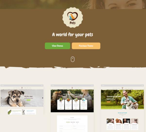 pet world birds dogs wordpress