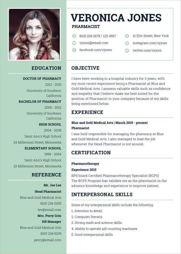 pharmacist-resume-template-in-illustrator