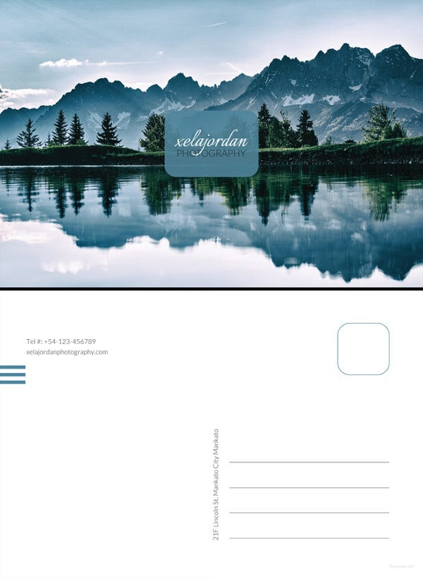 photographer business postcard template