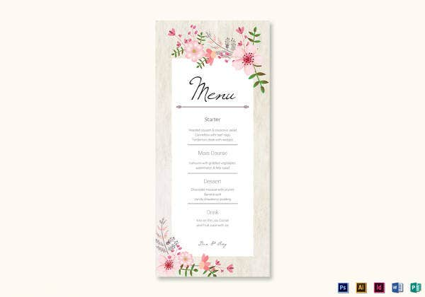 pink-floral-wedding-menu-card-design