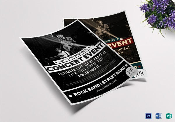 pop concert event flyer template1