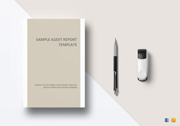 printable audit report template