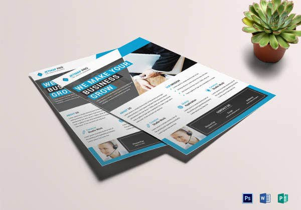 24 word business flyer templates free download free premium printable business corporate flyer template cheaphphosting Images