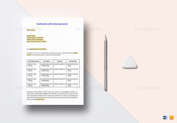 printable-confirmation-of-purchase-agreement