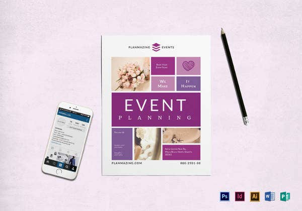 printable event planning flyer template