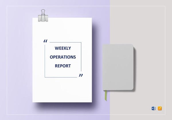 printable weekly operations report template