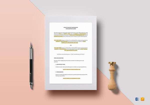 private-placement-memorandum-template