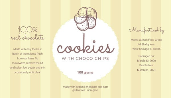 18  product label templates