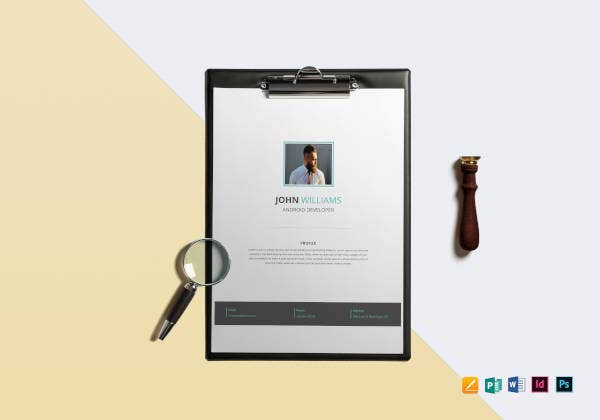 professional-android-developer-resume-template