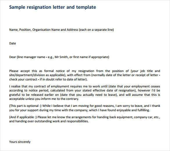 How To Write A Professional Resignation Letter | Free & Premium