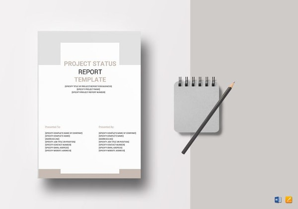 project status report template in apple pages