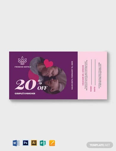 relationship romantic love voucher template