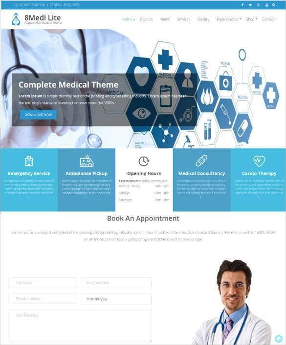 responsive dentist clinic wordpress blog template1