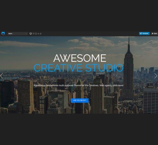 responsive one page parallax drupal theme