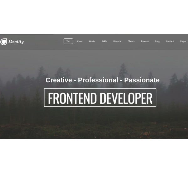 responsive one page vcard portfolio joomla template