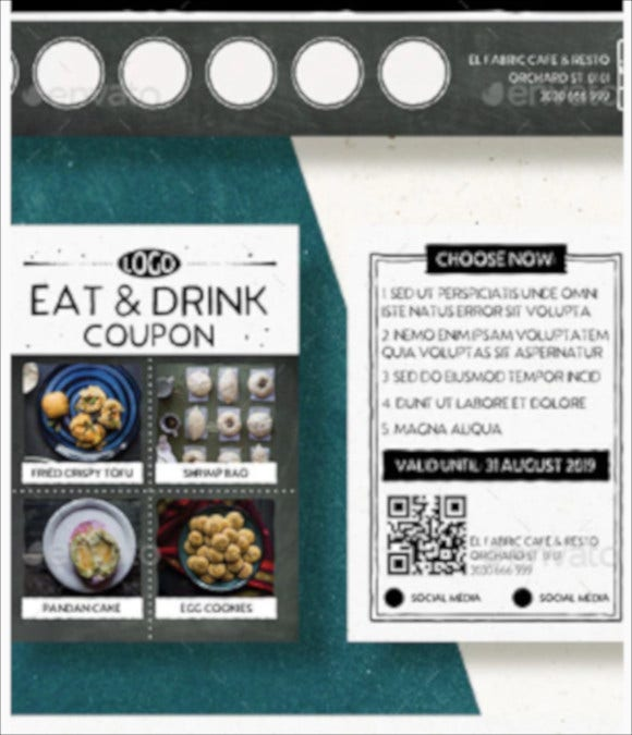 restaurant coupon download