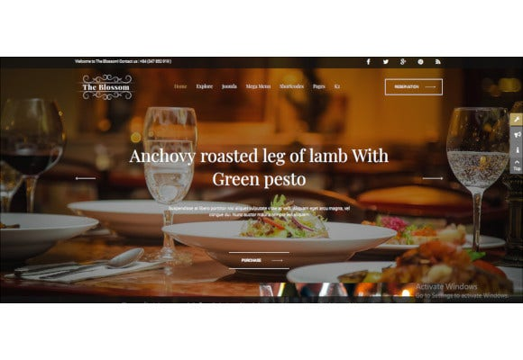 restaurant and food stores joomla template