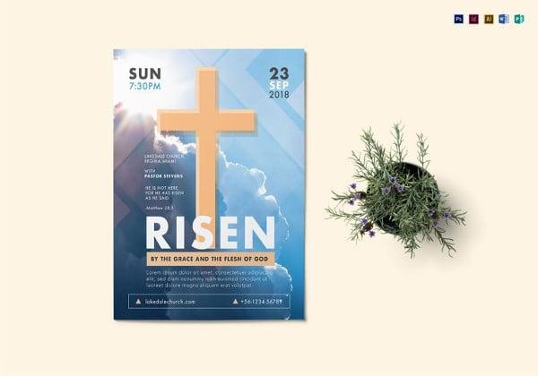 risen-church-flyer-template
