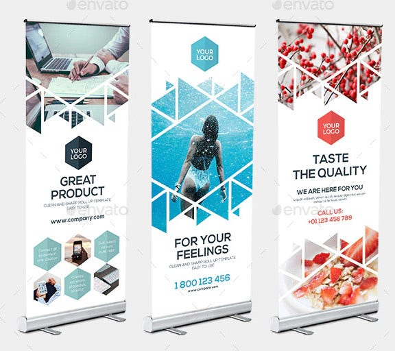 rollup stand banner display triangle