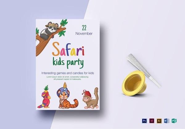 safari-jungle-kid-birthday-flyer-template