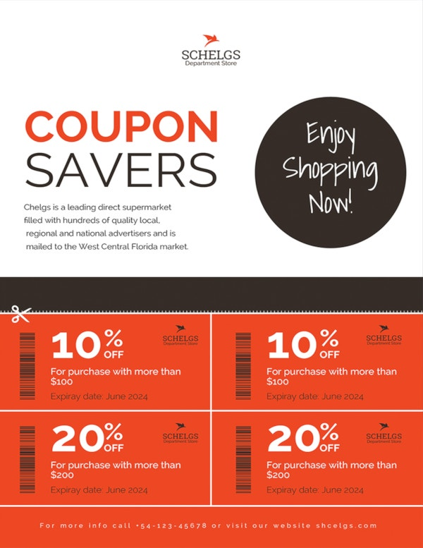 sample coupon flyer template1