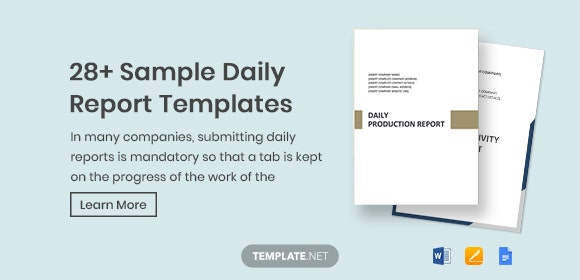 28+ Sample Daily Report Templates - Word, PDF, Apple Pages