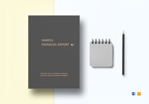 sample financial report word template