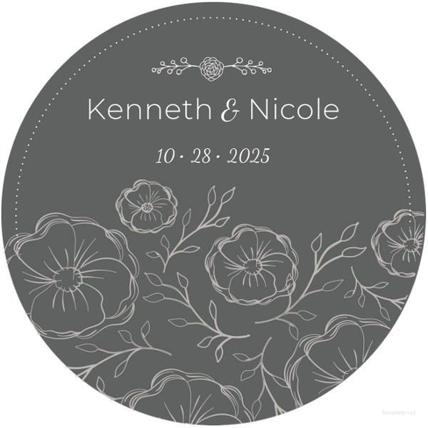 sample wedding cd label template