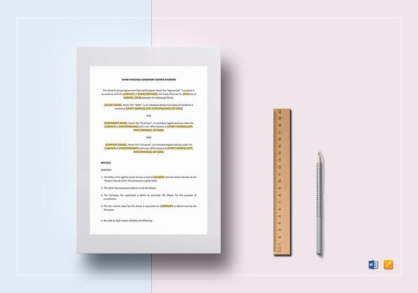 share purchase agreement template in google docs