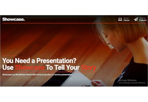 showcase fullscreen slides wordpress theme