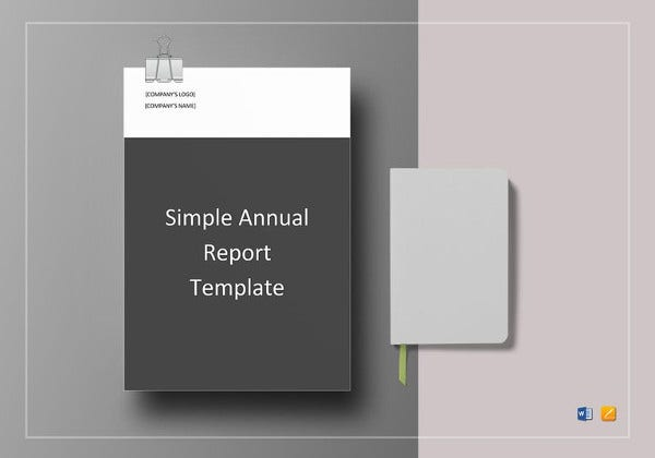 simple annual report template in word