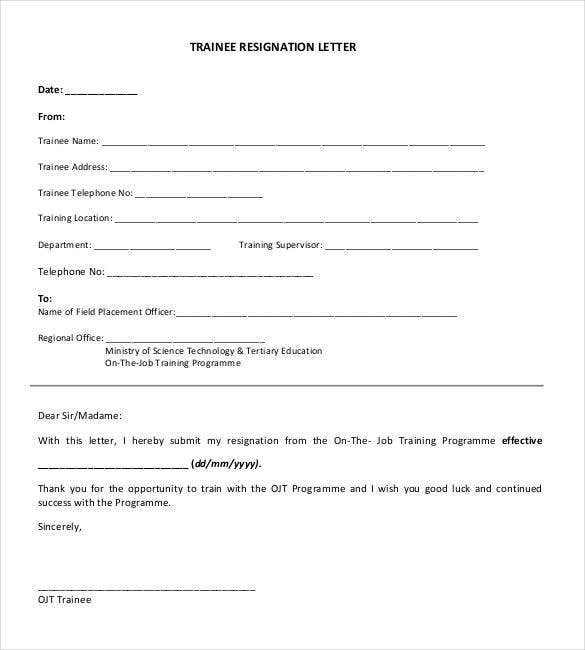 simple-trainee-resignation-letter-downloadable