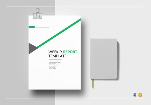 simple weekly status report template