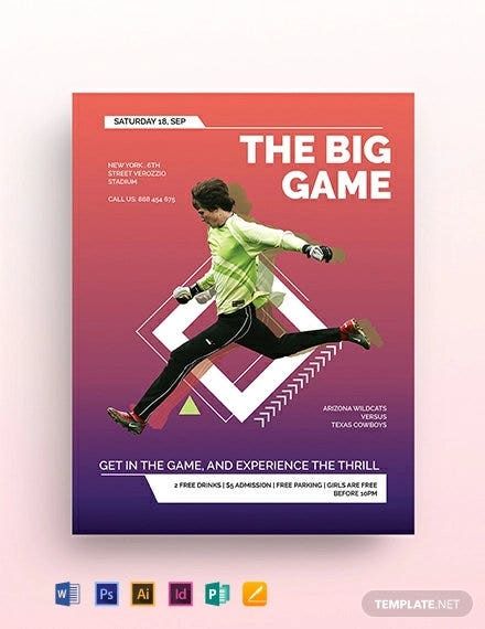 sports event flyer template2